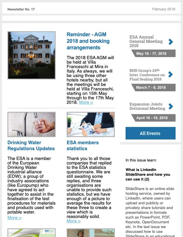 ESA Newsletter February 2018